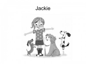 Jackie with Einstein, Puzzle and Bounce